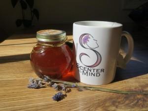 Tea with lavender honey.