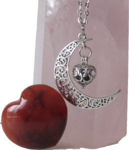 Moon and Heart Aroma Locket
